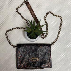 Braciano Black/Bronze Crossbody/Shoulder Bag